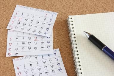 目標管理のためのノートとカレンダー