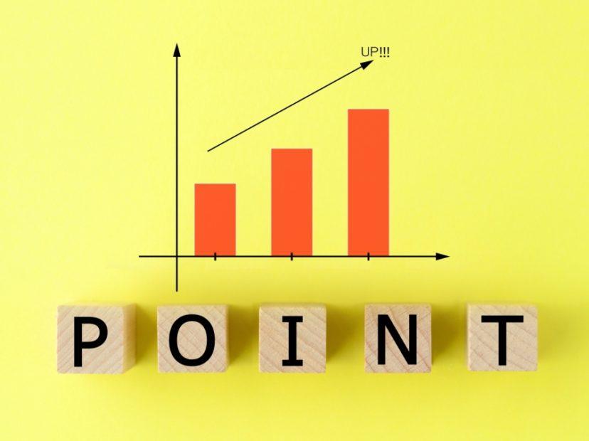 定着率向上のグラフとポイント